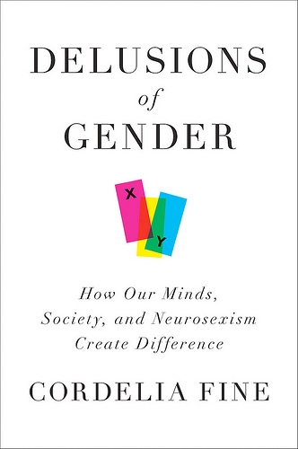"Cover is white, with three overlapping rectangles - pink labelled X, blue labelled Y, and yellow unlabelled - and the subtitle ""How our Minds, Society, and Neurosexism Create Difference"""